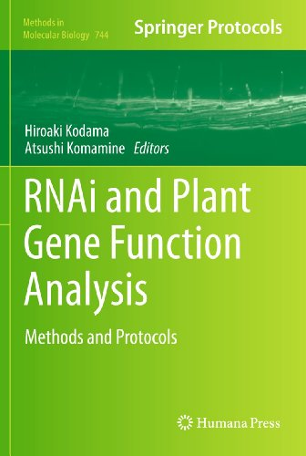 9781617791222: RNAi and Plant Gene Function Analysis: Methods and Protocols (Methods in Molecular Biology, Vol. 744)