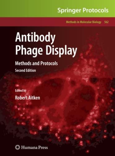 9781617794933: Antibody Phage Display: Methods and Protocols (Methods in Molecular Biology)