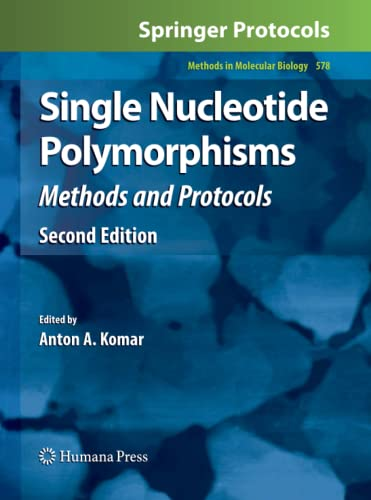 9781617796791: Single Nucleotide Polymorphisms: Methods and Protocols (Methods in Molecular Biology)