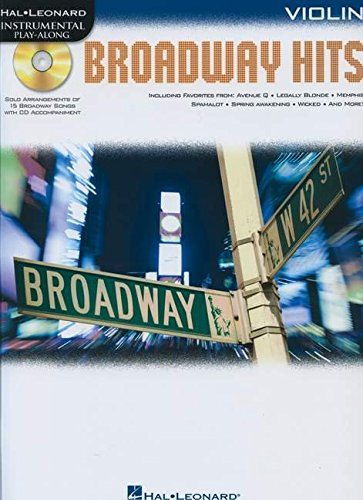 9781617807664: Broadway Hits For Violin - Instrumental Play-Along Book/CD (Hal Leonard Instrumental Play-Along)