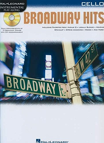 9781617807688: Broadway Hits For Cello - Instrumental Play-Along Book/CD (Hal Leonard Instrumental Play-Along)