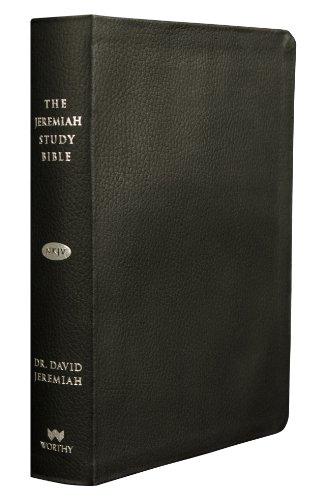 The Jeremiah Study Bible, NKJV: Black Genuine Leather w/thumb index: David Jeremiah
