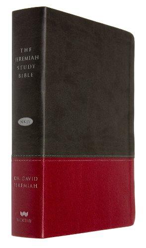 9781617952807: The Jeremiah Study Bible, NKJV: Charcoal/Burgundy LeatherLuxe(TM)