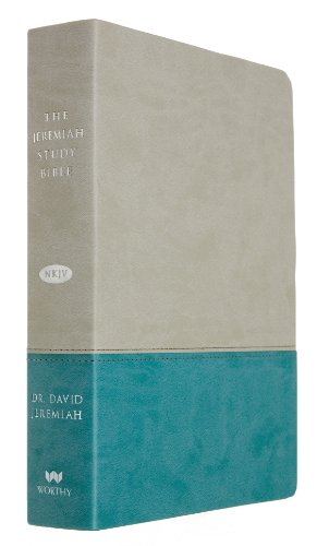 9781617952906: The Jeremiah Study Bible, NKJV: Gray/Teal LeatherLuxe(TM)