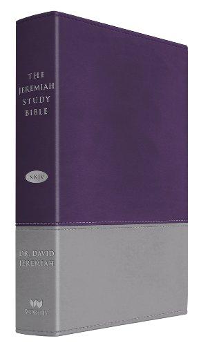9781617952951: The Jeremiah Study Bible, NKJV: Purple/Gray LeatherLuxe(TM)
