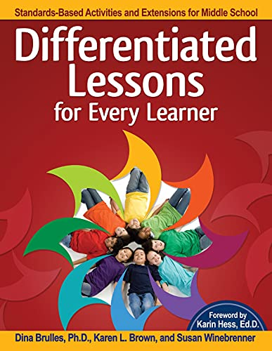 9781618215420: Differentiated Lessons for Every Learner: Standards-Based Activities and Extensions for Middle School