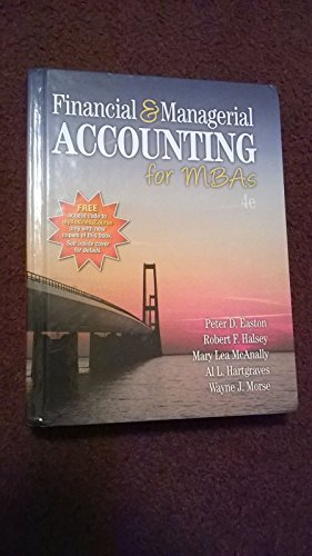 9781618531025: Financial and Managerial Accounting for MBAs by Peter D. Easton (2014-01-01)