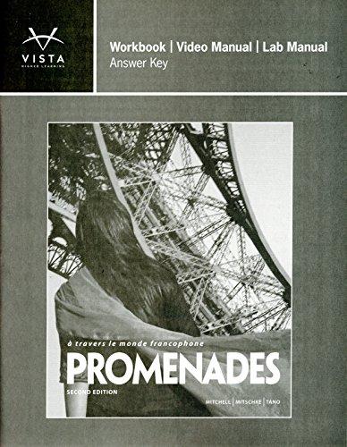 9781618570192 promenades 2nd answer key for workbook video and lab rh abebooks com School Answer Key School Answer Key