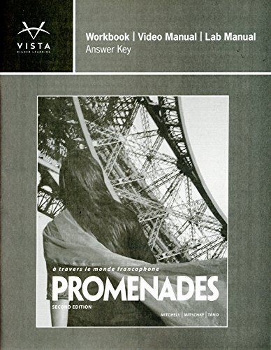 9781618570192: Promenades 2nd ANSWER KEY for Workbook/Video and Lab Manual