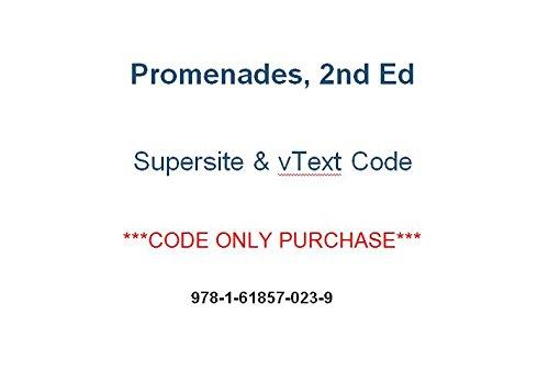 9781618570239: Promenades 2nd (2014) Supersite PLUS Code (Supersite Plus & vtext) - CODE ONLY