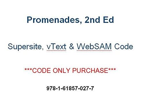 9781618570277: Promenades 2nd (2014) Supersite PLUS, vtext & webSAM CODE - CODE ONLY (2014-05-04)