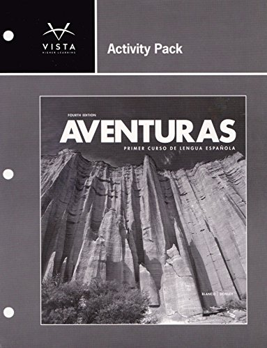 9781618570710: Activity Pack for Aventuras Primer Curso de Lengua Espanola