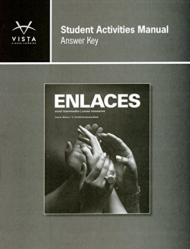 9781618570888: Enlaces Student Activities Manual Answer Key