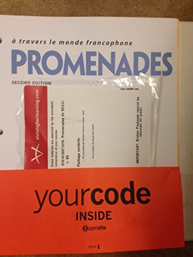9781618571076: Promenades 2nd Looseleaf Textbook with Supersite Code