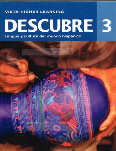 9781618572004: Descubre 3 (2014 Edition), Student Edition with SUPERSITE Code **Supersite Code Included** Note: NOT vText or eCuaderno**