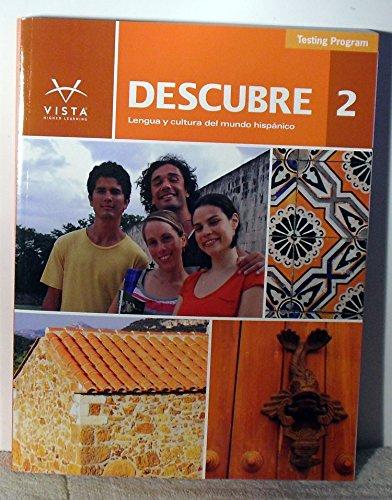9781618573292: Descubre 2 Lengua y cultura del mundo hispanico Testing Program