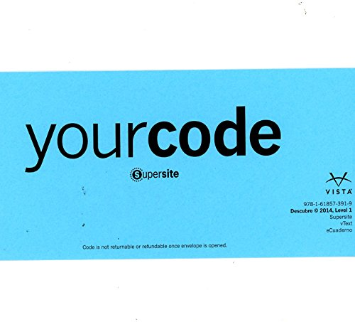 Descubre 1 2014 CODE for Supersite, vText and eCuaderno - CODE ONLY