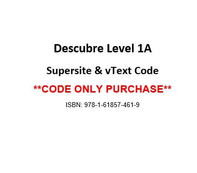Descubre 2014, Level 1A Supersite & vText Code - CODE ONLY