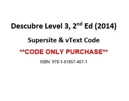 9781618574671: Descubre ©2014, Level 3 Supersite Plus w/ vTEXT Code - CODE ONLY