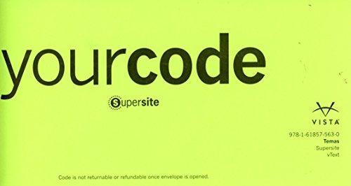 9781618575630: Temas vText & Supersite Code ***CODE ONLY***