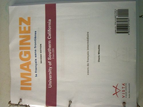 9781618577481: Imaginez le francais sans frontieres 2nd edition custome for UCSB fren-220
