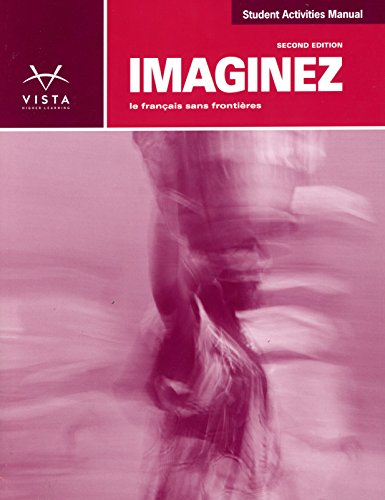 9781618578617: Imaginez 2nd Ed Student Activities Manual, Answer Key and SS Plus Code (Supersite, vText and WebSAM)