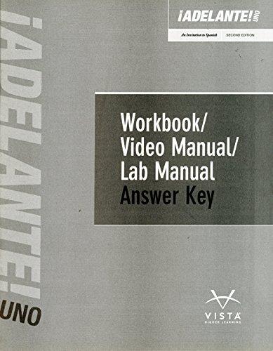 9781618579010: ¡Adelante! Uno 2nd Edition Answer Key