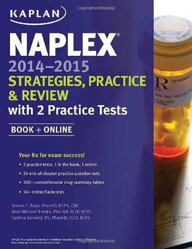 9781618653819: NAPLEX 2014-2015 Strategies, Practice, and Review with 2 Practice Tests: Book + Online (Kaplan Medical Naplex)