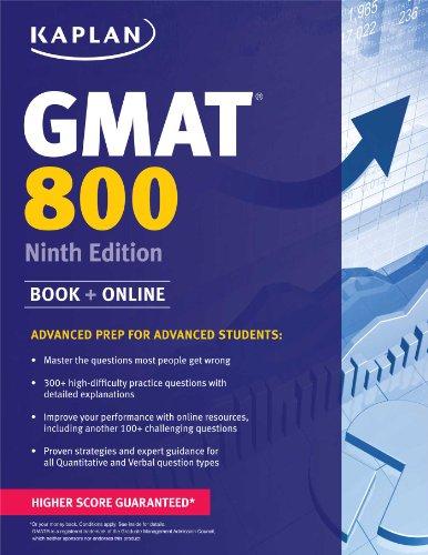 9781618654069: Kaplan GMAT 800: Advanced Prep for Advanced Students (Kaplan Test Prep)