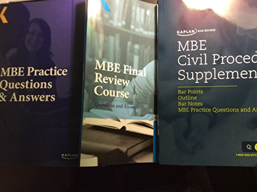 9781618654915: Kaplan Bar Review MBE Practice Questions &Answers (2015) Plus Civil Procedure Plus MBE Final Review