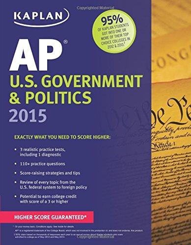 9781618655370: Kaplan AP U.S. Government & Politics 2015 (Kaplan Test Prep)
