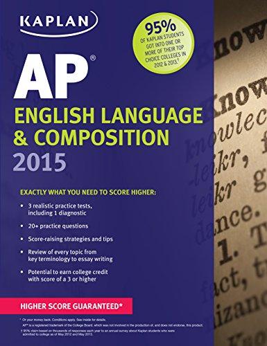 9781618655394: Kaplan AP English Language & Composition 2015 (Kaplan Test Prep)
