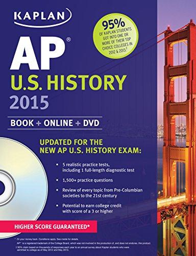 9781618655868: Kaplan AP U.S. History 2015: Book + Online + DVD (Kaplan Test Prep)
