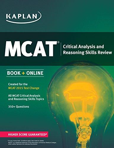 9781618656087: Kaplan MCAT Critical Analysis and Reasoning Skills Review: Created for MCAT 2015 (Kaplan Test Prep)