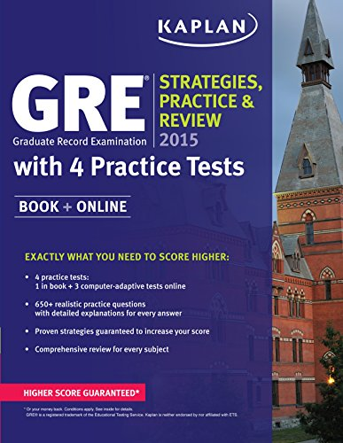 9781618656339: GRE® 2015 Strategies, Practice, and Review with 4 Practice Tests: Book + Online (Kaplan Test Prep)