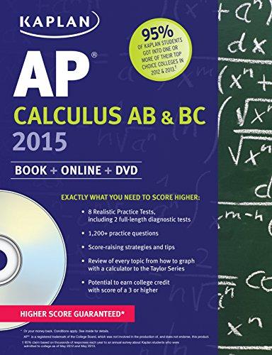 9781618656865: Kaplan AP Calculus AB & BC 2015: Book + Online + DVD (Kaplan Test Prep)