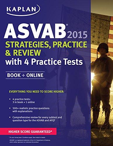 9781618657565: Kaplan ASVAB 2015 Strategies, Practice, and Review with 4 Practice Tests: Book + Online (Kaplan Test Prep)
