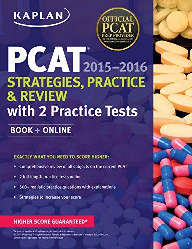 9781618658883: Kaplan PCAT 2015-2016 Strategies, Practice, and Review with 2 Practice Tests: Book + Online (Kaplan Test Prep)
