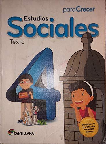 9781618753144: Para Crecer Estudios Sociales 4 Texto Santillana 2015-2016 Isbn : 9781618753144