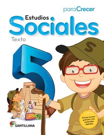 9781618753151: Para Crecer Estudios Sociales 5 Texto Santillana 2015-2016 Isbn: 9781618753151