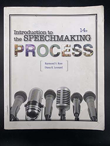 Introduction To The Speechmaking Process: BVT Publishing