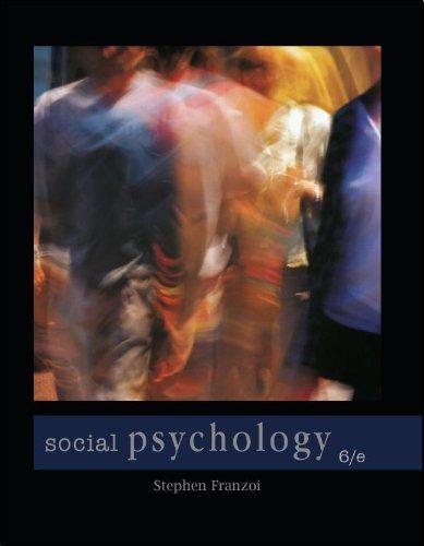Social Psychology (Paper): Stephen Franzoi