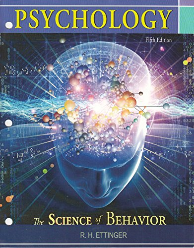 9781618825803: Psychology(the Science of Behavior) Fifth Edition