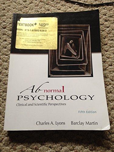 9781618826374: ABNORMAL PSYCHOLOGY