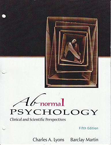 9781618826381: Abnormal Psychology - Clinical and Scientific Perspectives (Loose Leaf)