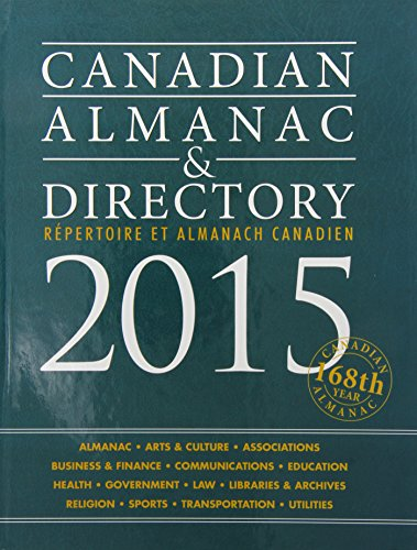 9781619251915: Canadian Almanac & Directory 2015: Repertoire Et Almanach Canadien, 168th Year