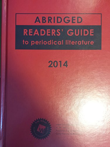 Abridged Readers' Guide to Periodical Literature 2014: n/a
