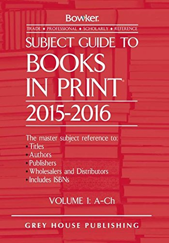 Subject Guide to Books in Print 2015/16 (Hardback)