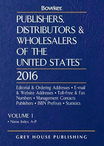 9781619256583: Publishers, Distributors & Wholesalers in the Us - 2 Volume Set, 2016 (Publishers, Distributors and Wholesalers of the United States)