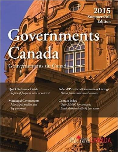 Government Canada: Summer/Fall 2015 (Paperback): Grey House Canada